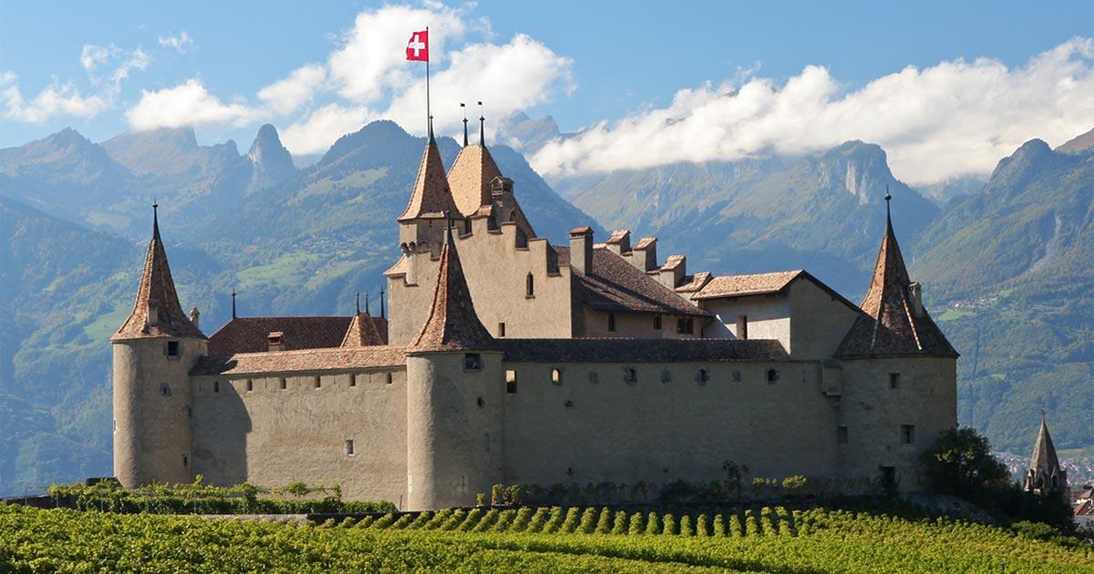 Château d'Aigle en automne