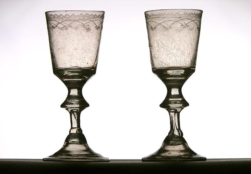 Verres à vin - 18e siècle