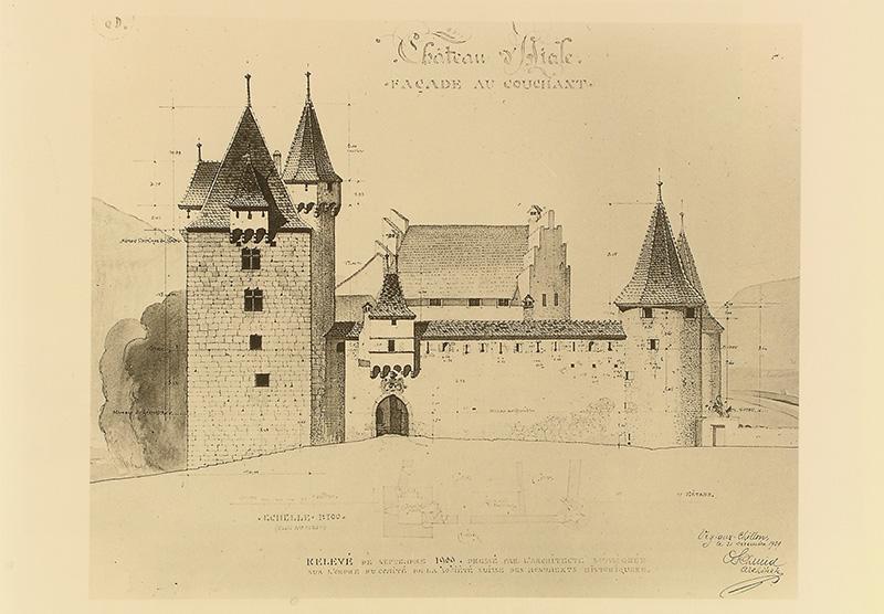 1909 - relevé de l'architecte Schmid