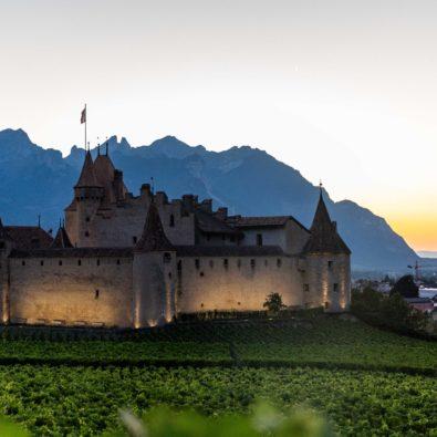 Château d'Aigle au coucher du soleil